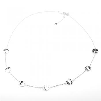 Bijou femme collier  7 petits ronds froissés