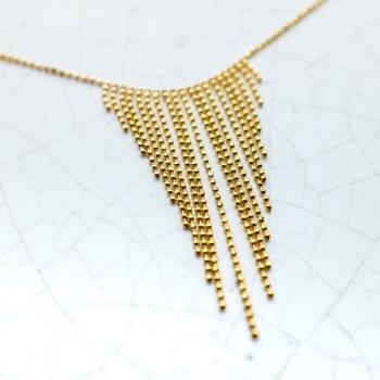 Bijou femme collier chaine boule facetée dégradée en Or jaune ou en Or blanc